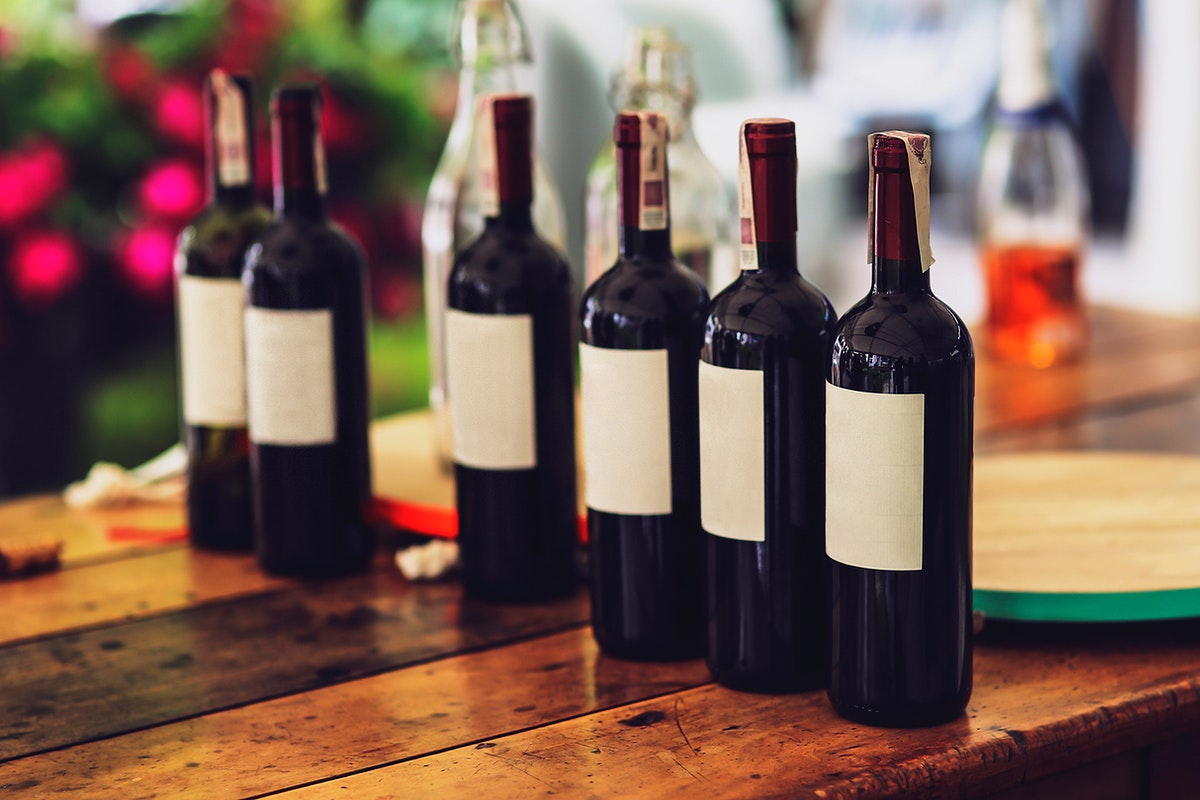 Bottles of red wine. Visit Kaboompics for more free images.