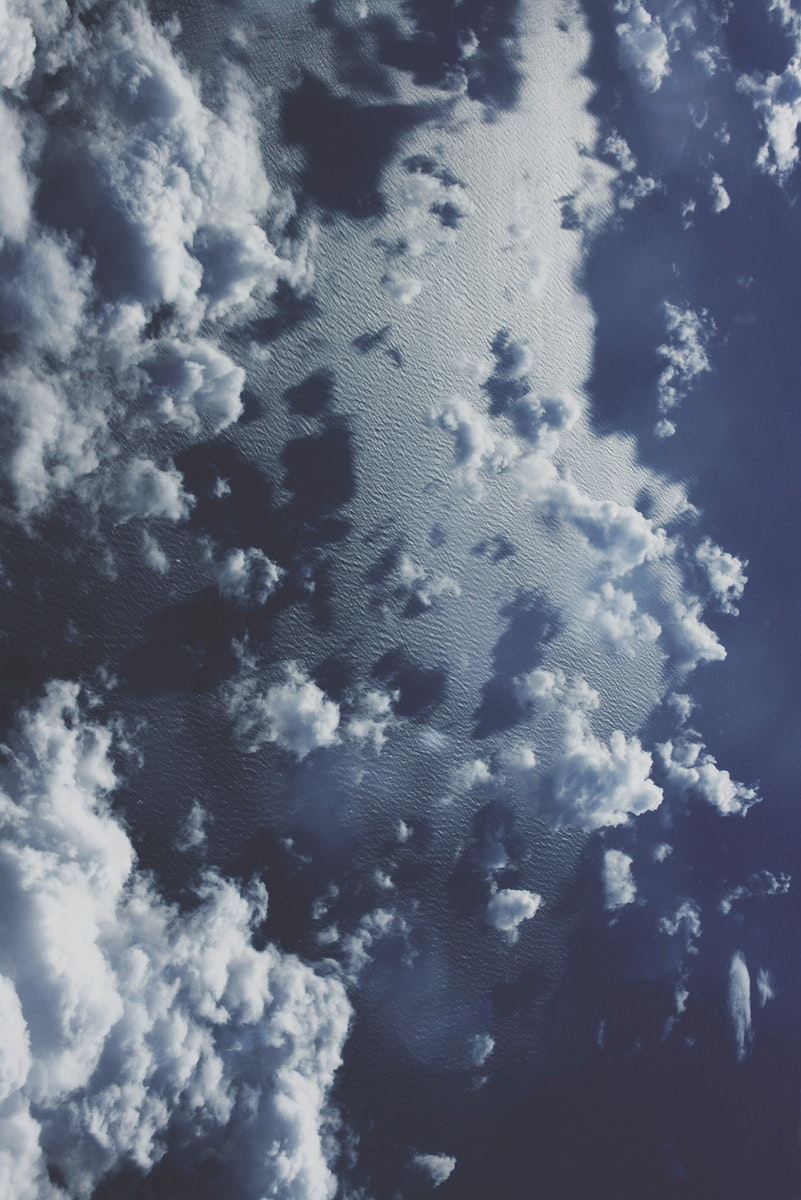 Clouds over the ocean. Visit Kaboompics for more free images.