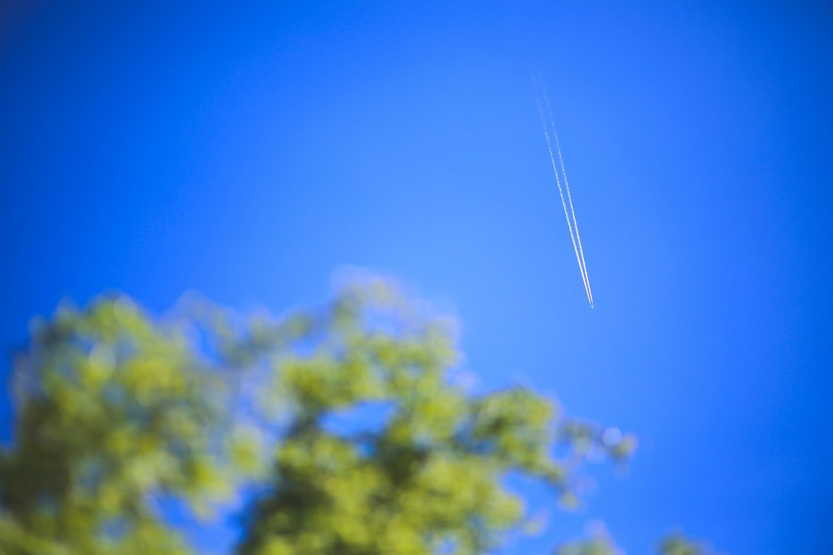 Airplane nosediving in the sky. Visit Kaboompics for more free images.