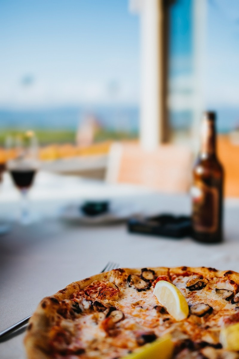 Closeup of an Italian pizza. Visit Kaboompics for more free images.