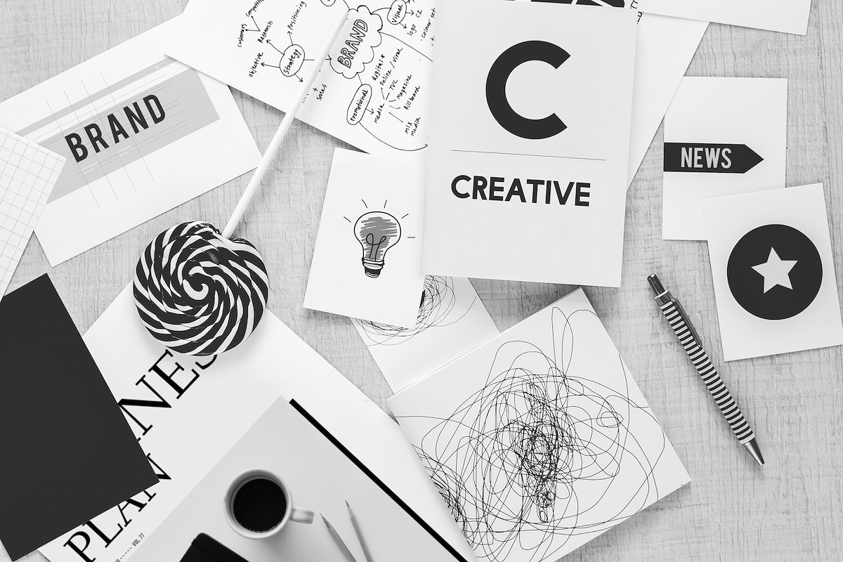Creative mess on a table. Visit Kaboompics for more free images.