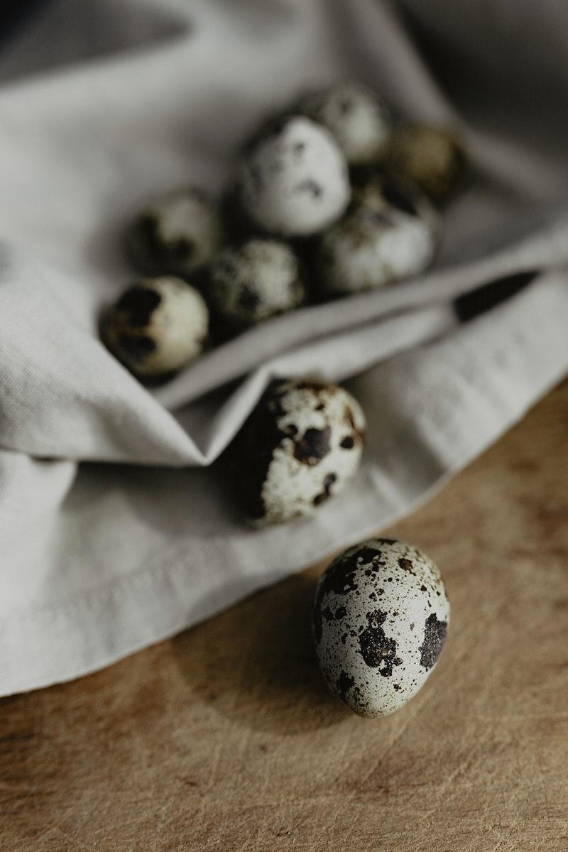 Tiny quail eggs. Visit Kaboompics for more free images.