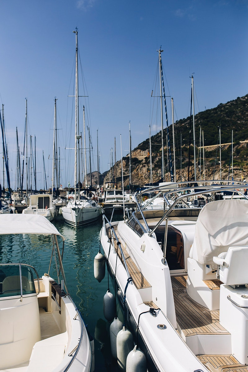 Marina with luxury boats. Visit Kaboompics for more free images.