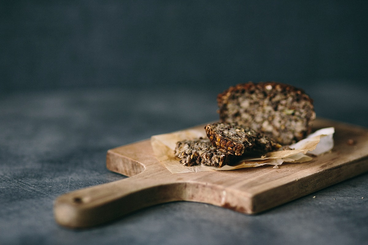Healthy breakfast bun. Visit Kaboompics for more free images.