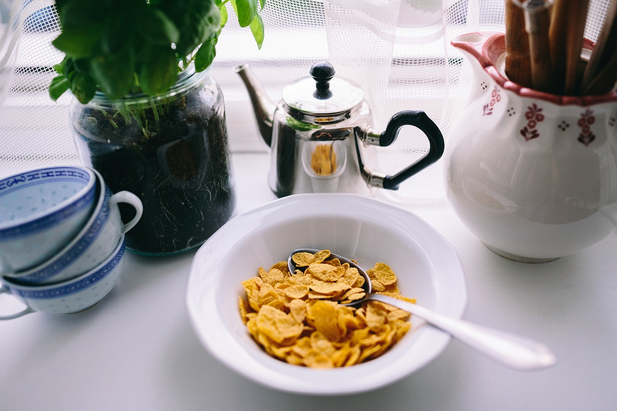 Cereals for breakfast. Visit Kaboompics for more free images.