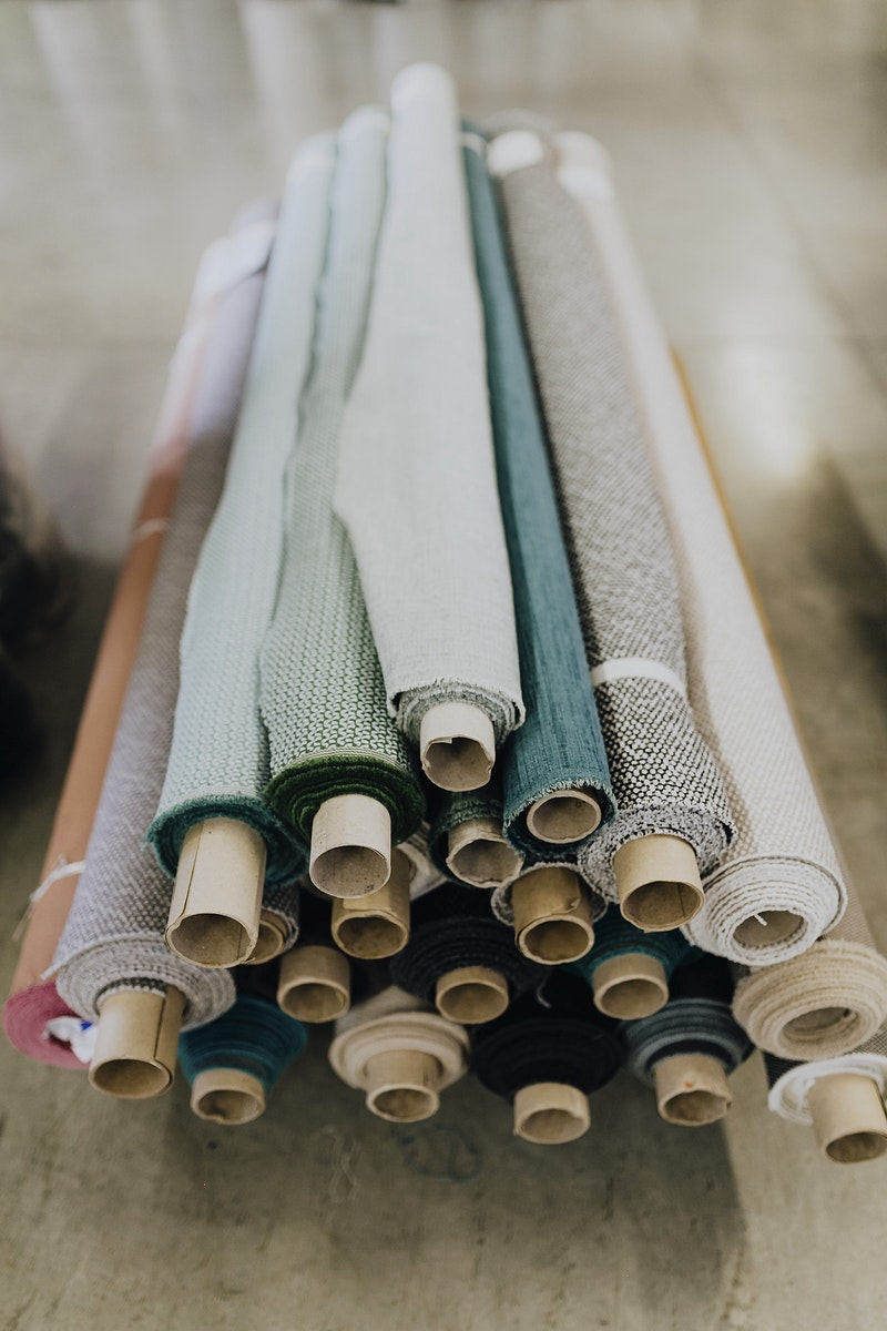 Rolls of textile fabrics. Visit Kaboompics for more free images.