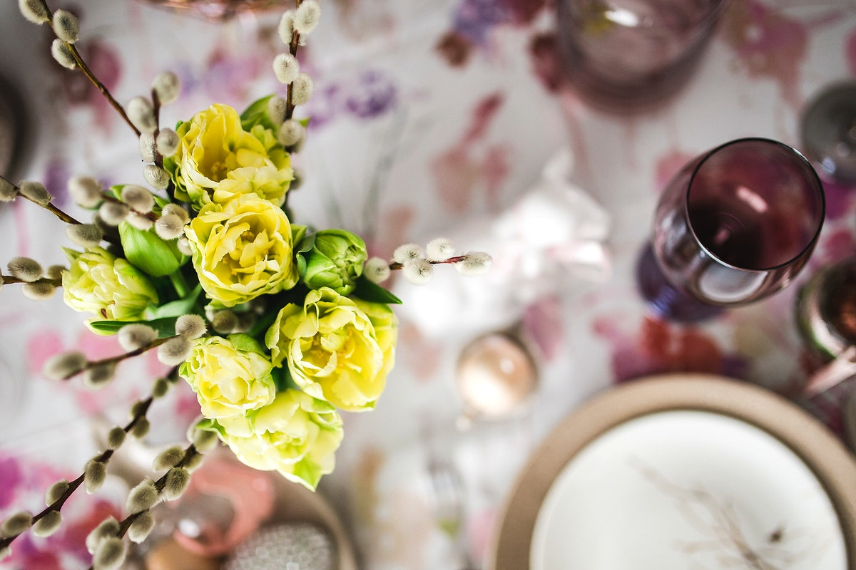 Table set for Easter dinner. Visit Kaboompics for more free images.