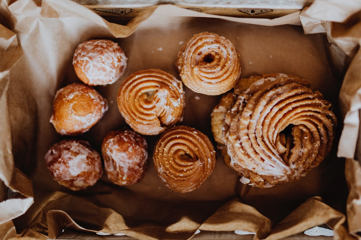 Box of pastries. Visit Kaboompics for more free images.