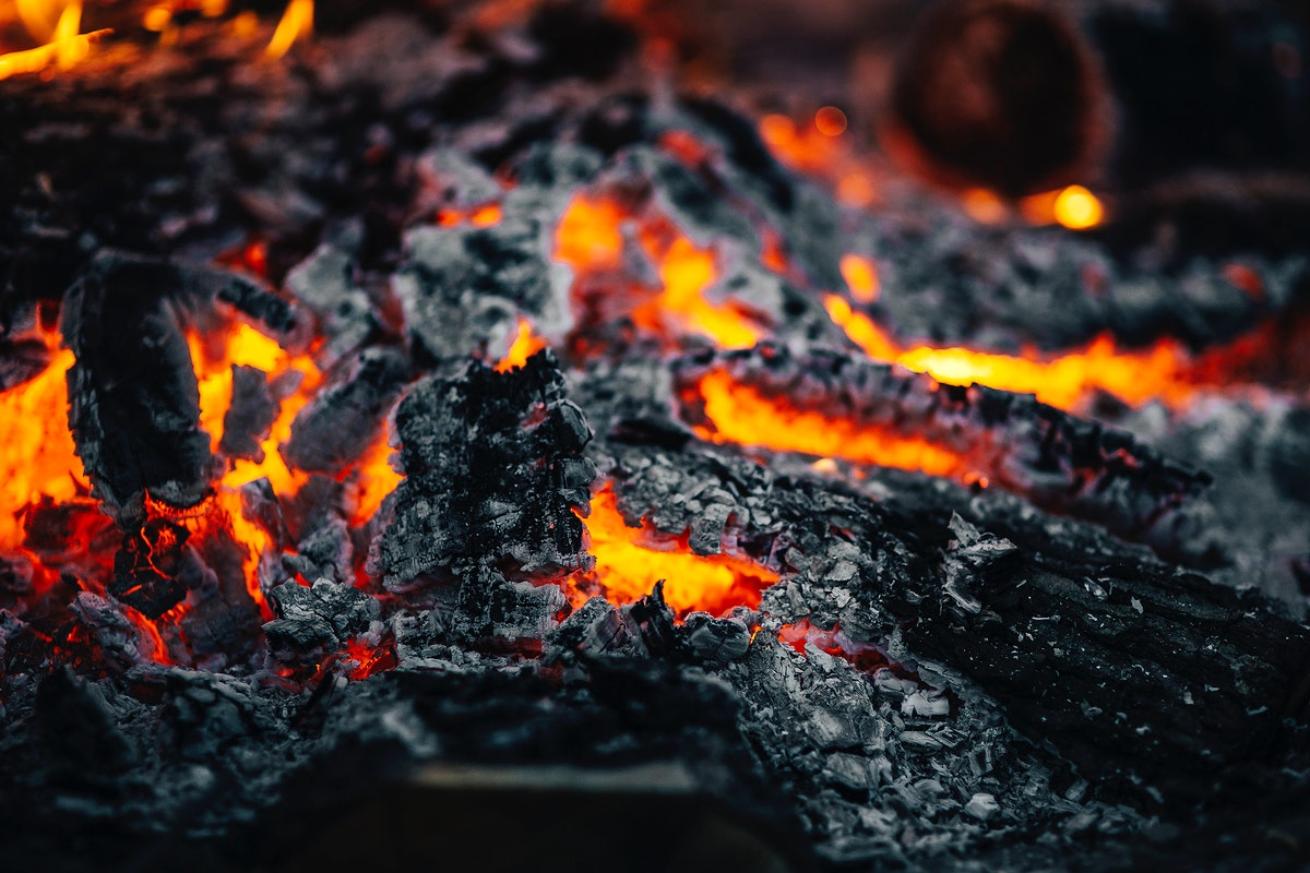 Close up of a warming fire. Visit Kaboompics for more free images.