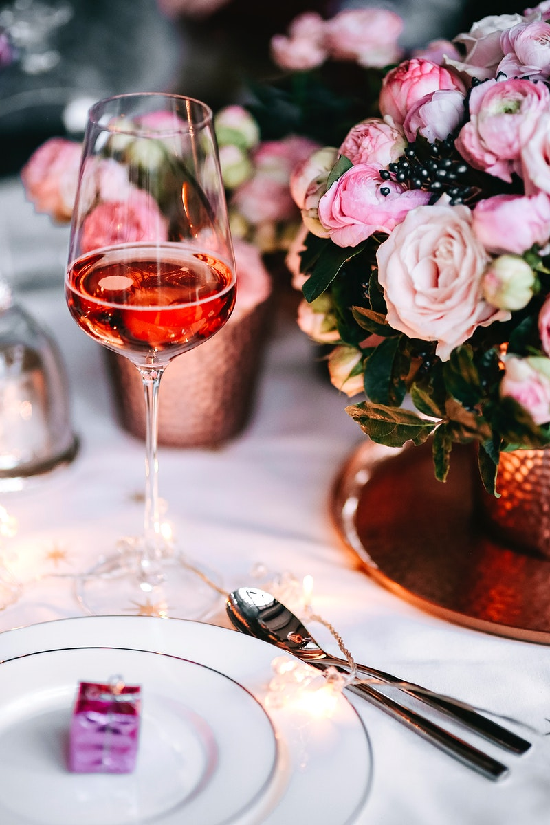 A glass of rose wine. Visit Kaboompics for more free images.