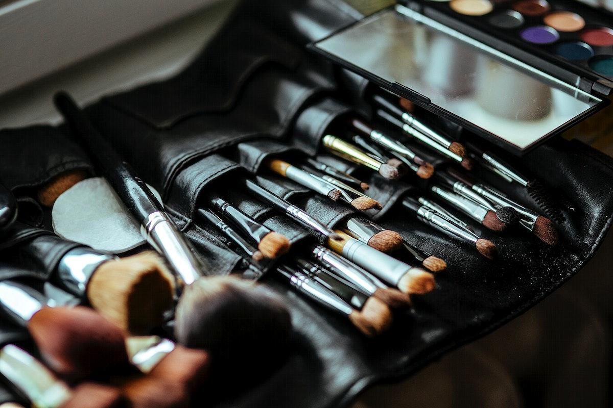 Set of makeup brushes. Visit Kaboompics for more free images.