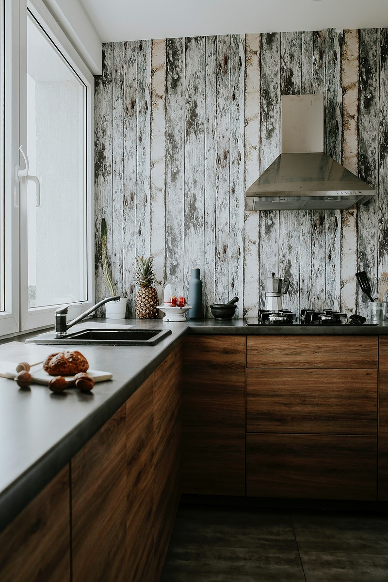 Interiors of a modern kitchen. Visit Kaboompics for more free images.