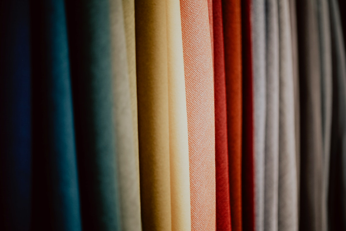 Close up of colorful fabrics. Visit Kaboompics for more free images.