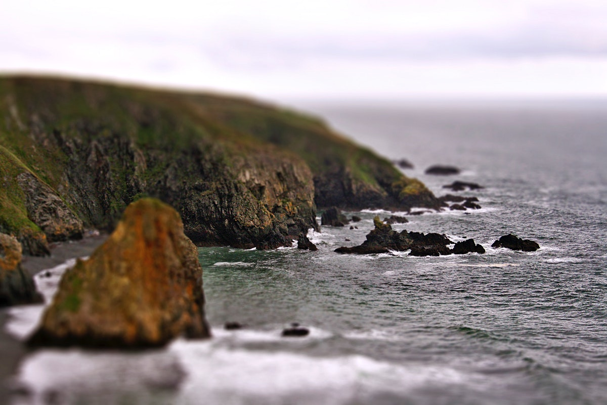 Ireland cliff and rocks. Visit Kaboompics for more free images.