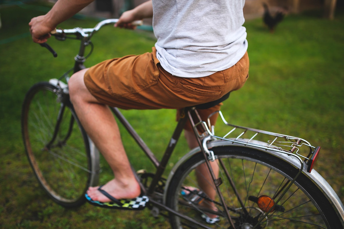 Man biking in the park. Visit Kaboompics for more free images.