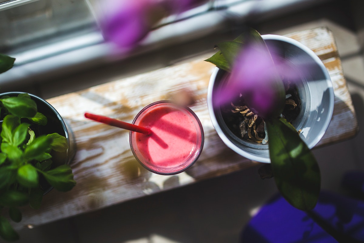 Fresh blueberry smoothie. Visit Kaboompics for more free images.