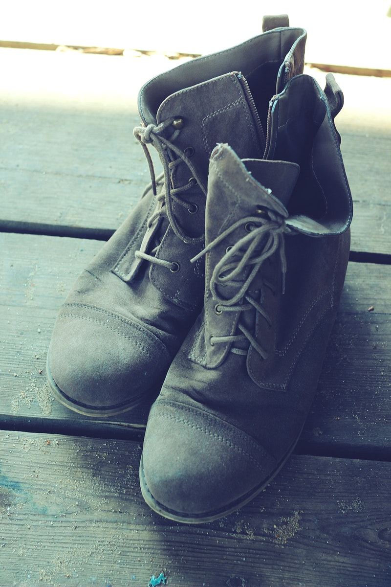 Old pair of leather boots. Visit Kaboompics for more free images.