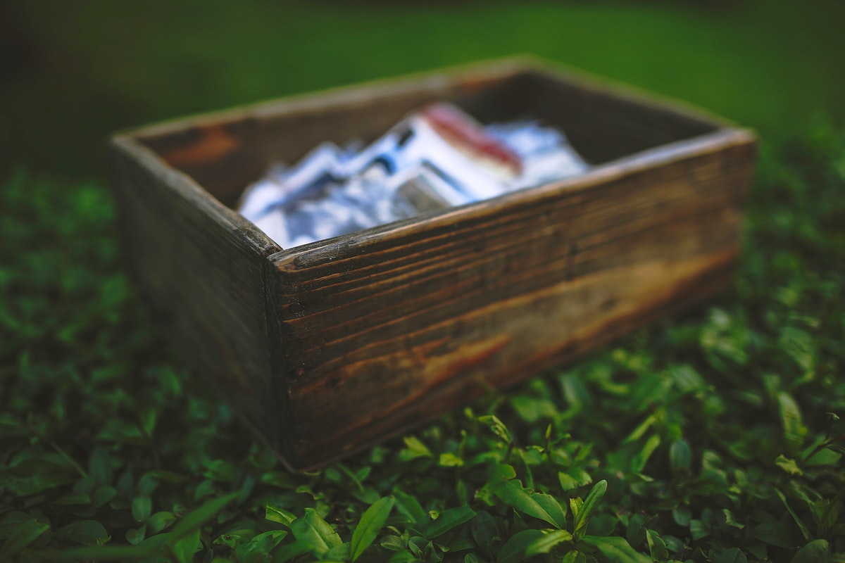 Old wooden box with photos. Visit Kaboompics for more free images.