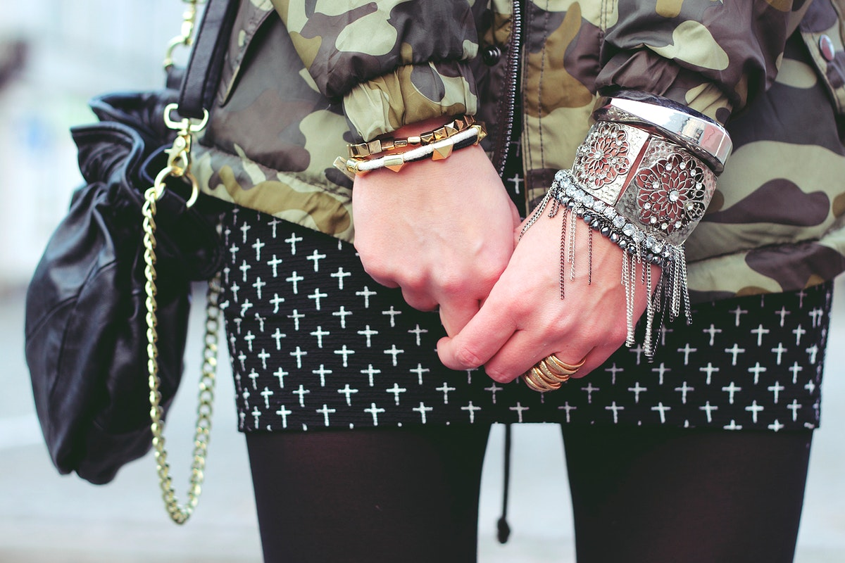 Woman wearing bracelets. Visit Kaboompics for more free images.