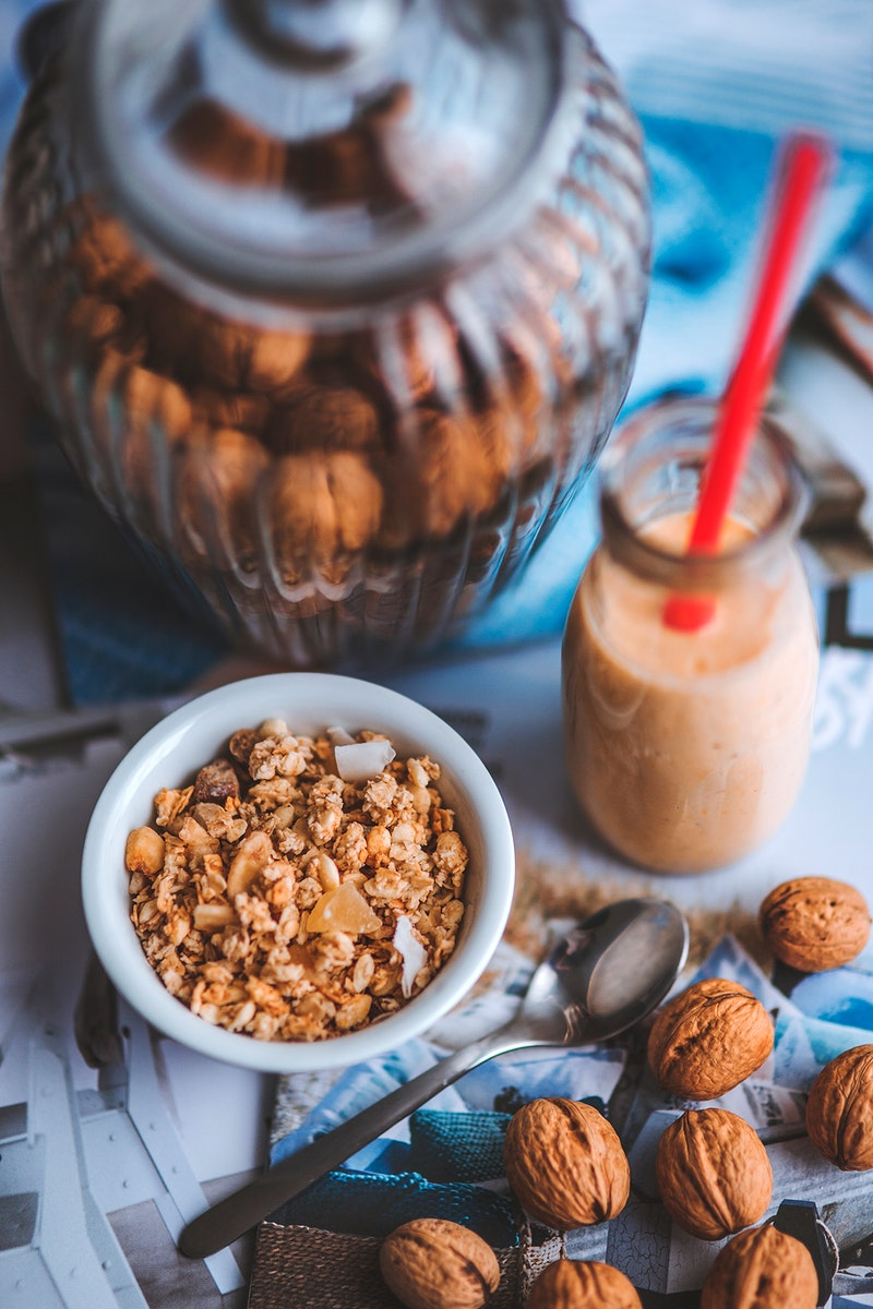Homemade granola with nuts. Visit Kaboompics for more free images.
