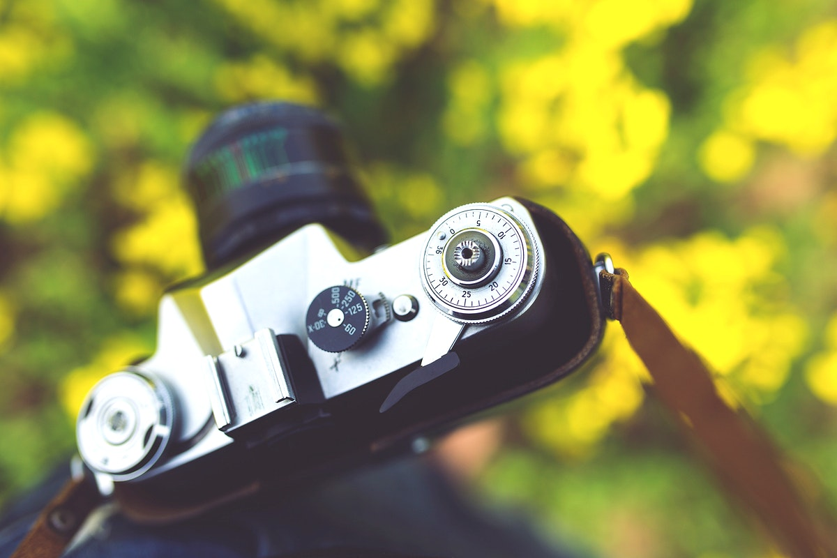Vintage analog film camera. Visit Kaboompics for more free images.