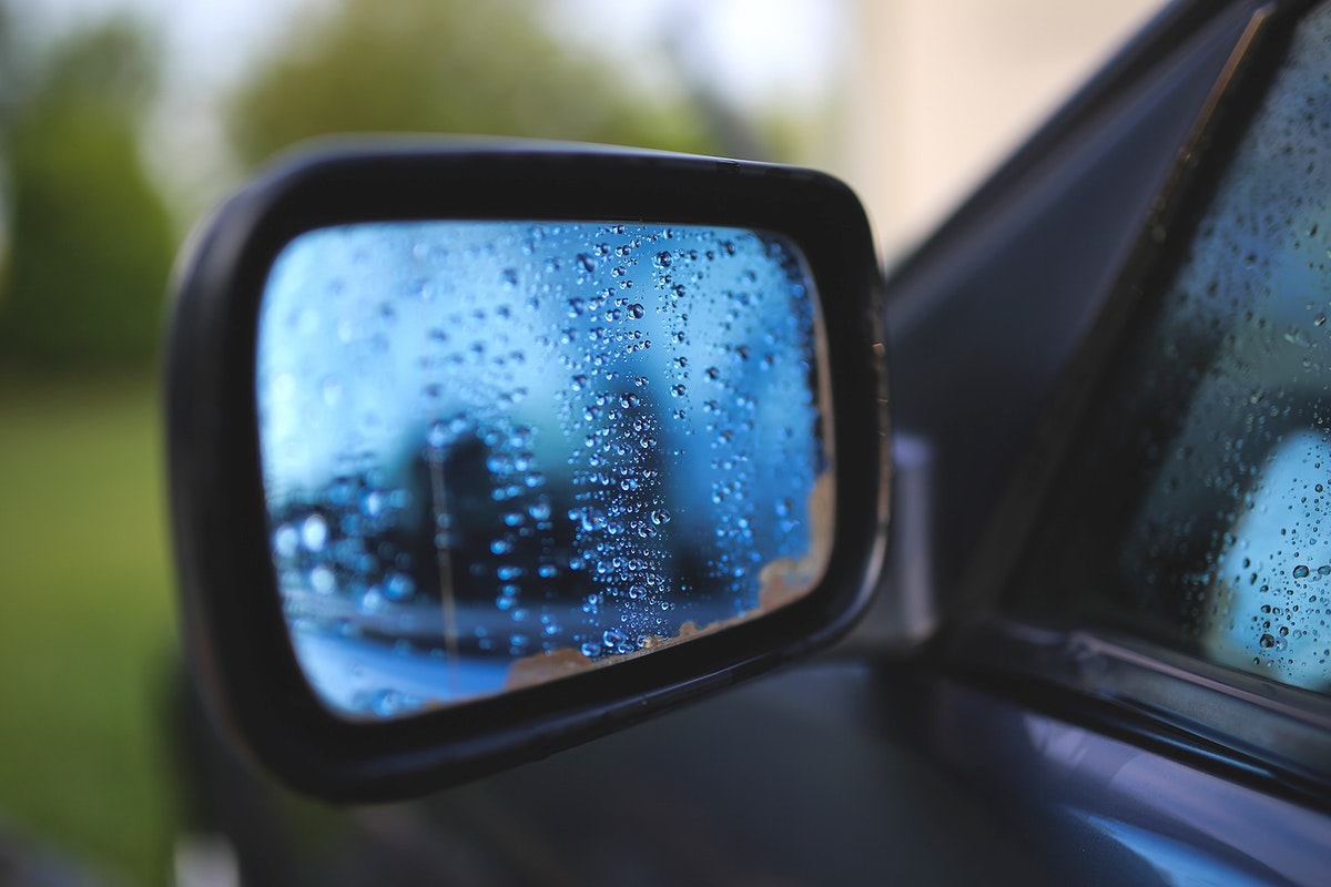 Side view mirror of a car. Visit Kaboompics for more free images.
