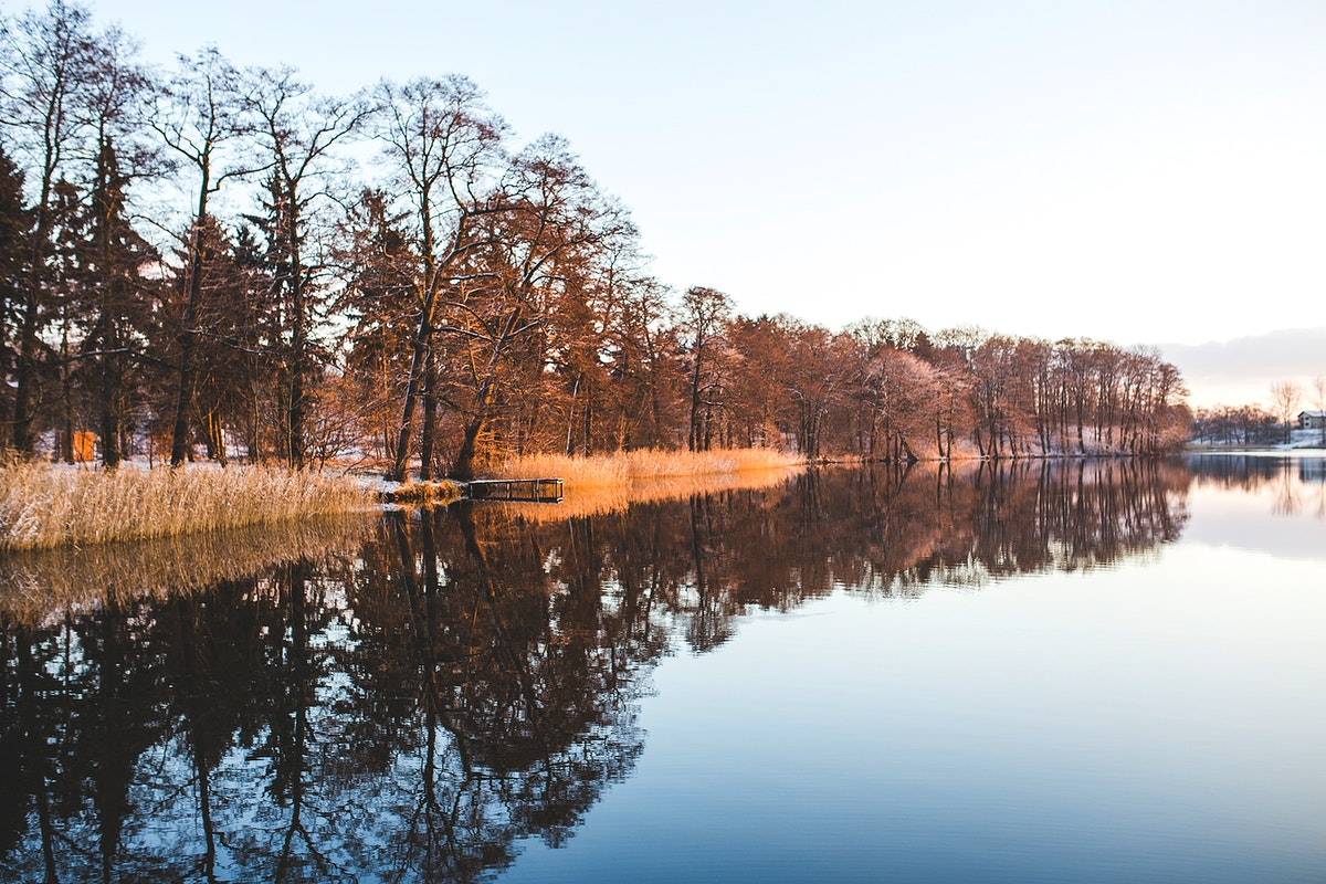 A lake in wintertime. Visit Kaboompics for more free images.