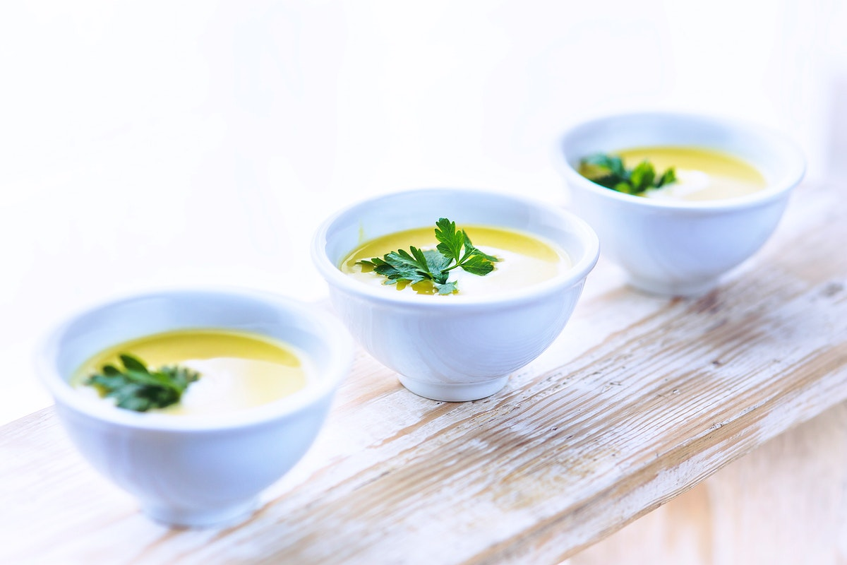 Creamy corn soup. Visit Kaboompics for more free images.