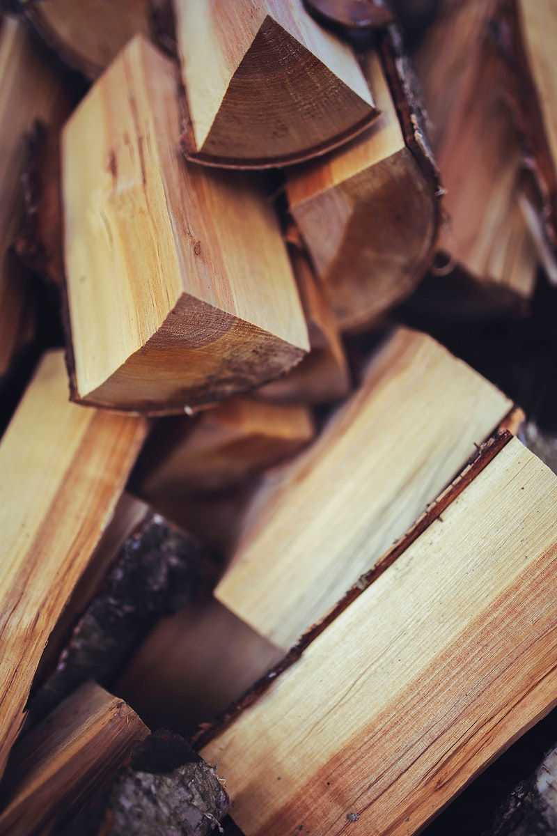 Freshly cut firewood. Visit Kaboompics for more free images.