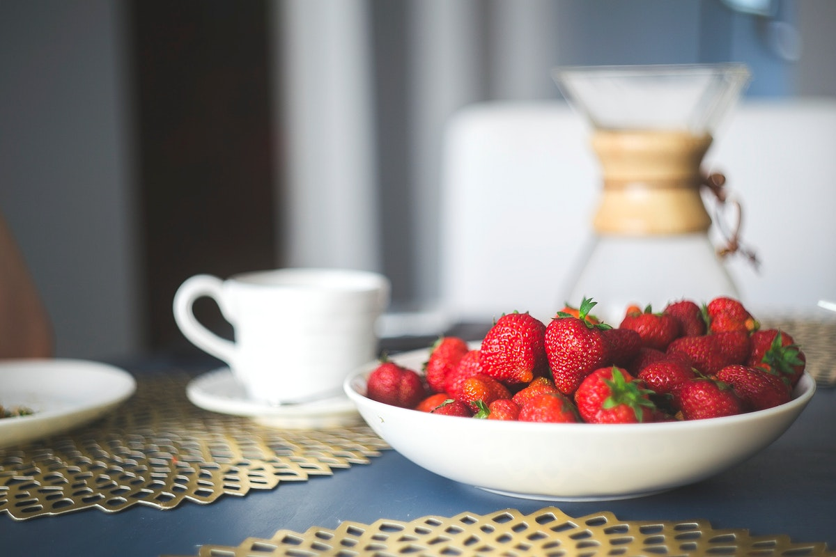 Strawberries in a bowl. Visit Kaboompics for more free images.