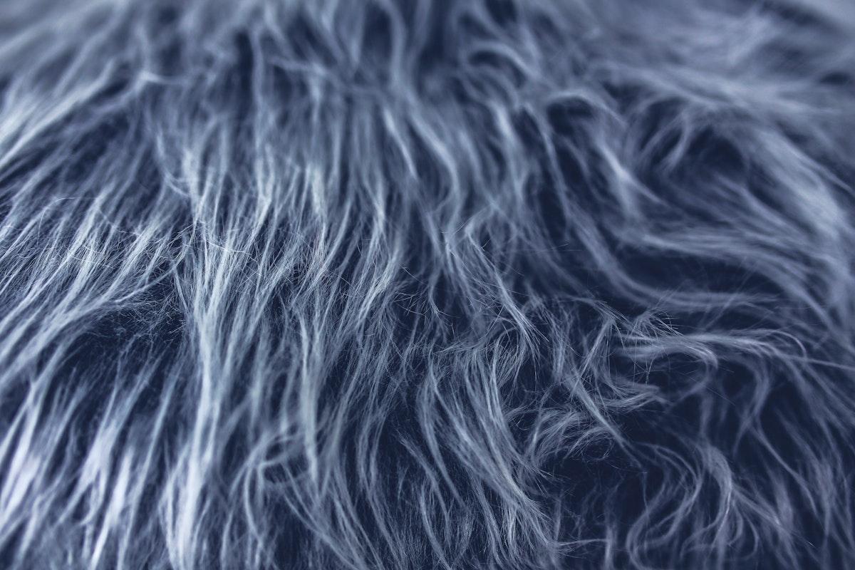 Close up of fake gray fur. Visit Kaboompics for more free images.
