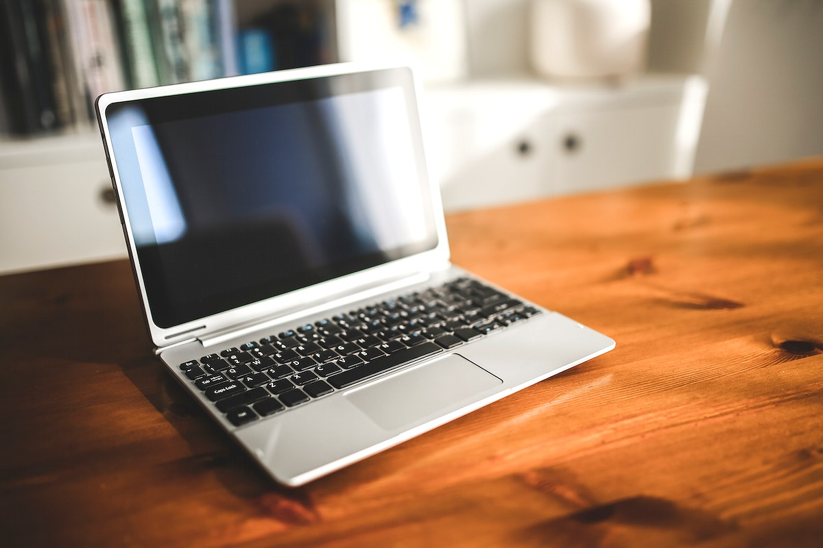 Blank laptop on a table. Visit Kaboompics for more free images.