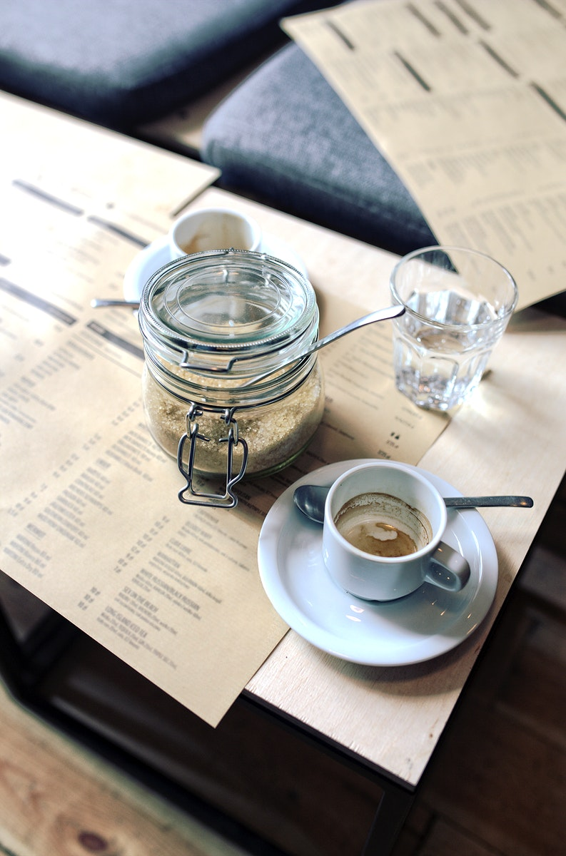 Cup of coffee at a cafe. Visit Kaboompics for more free images.
