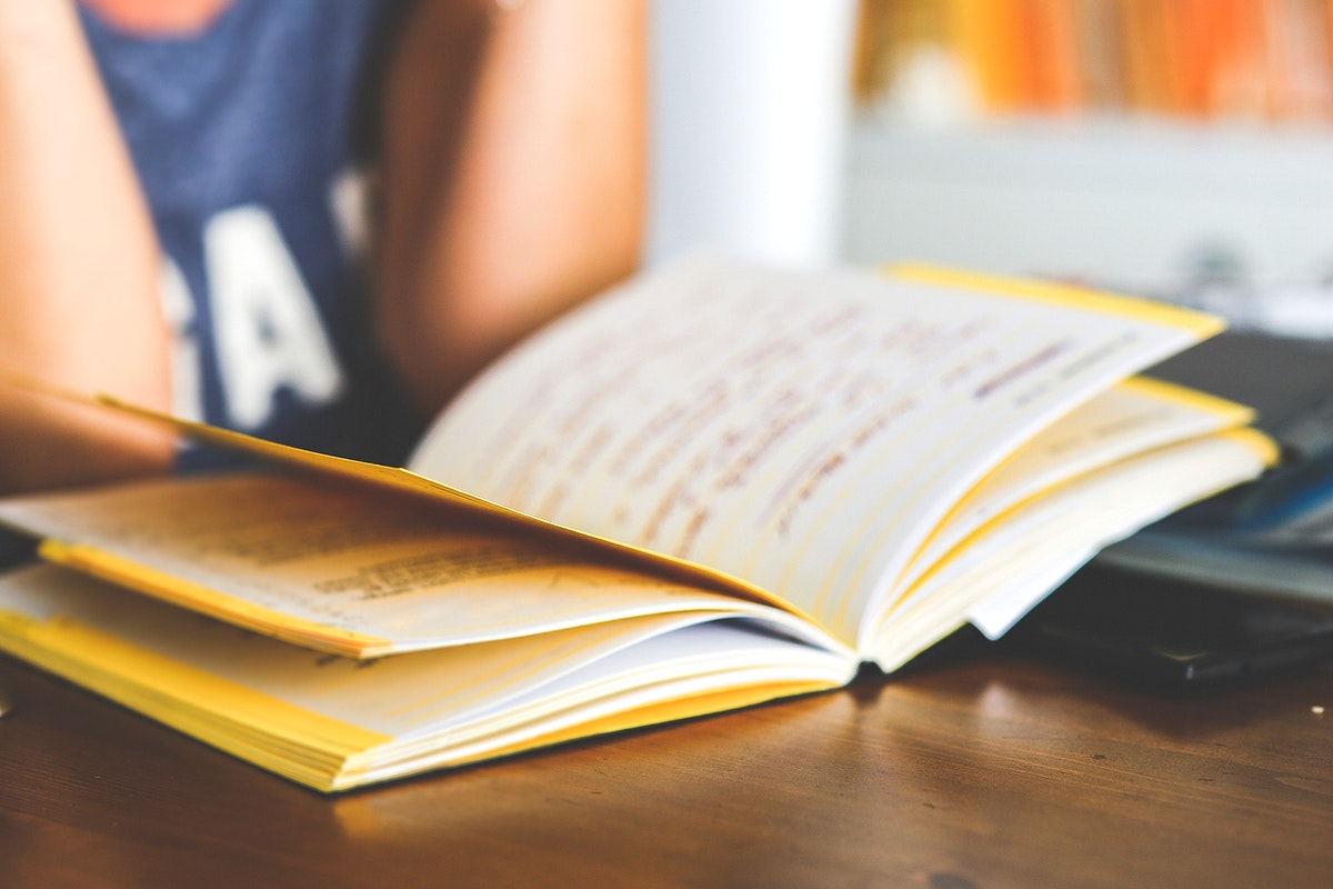 Boy reading a book. Visit Kaboompics for more free images.