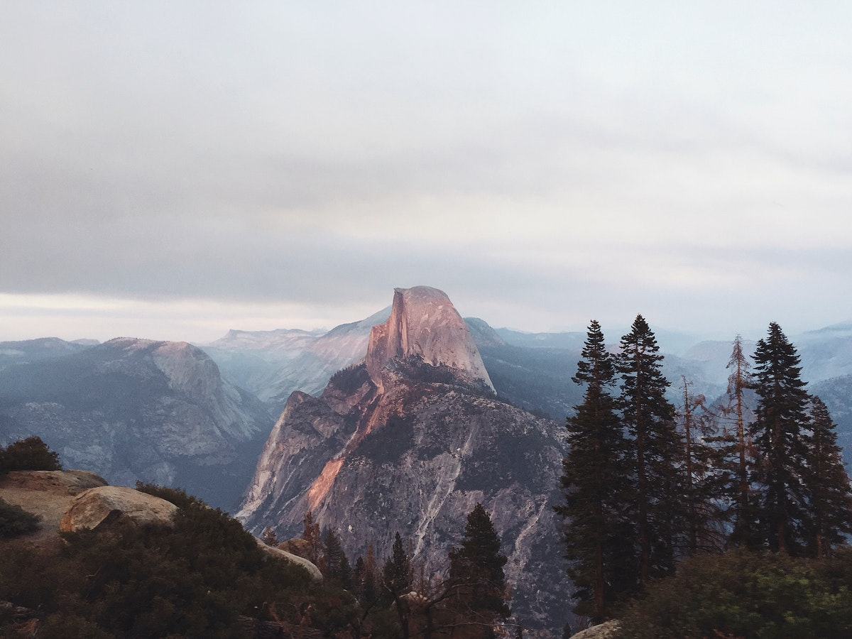 Glacier Point viewpoint above Yosemite Valley, California, United States