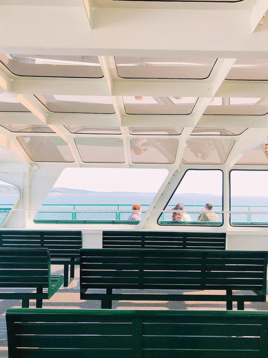 Interior of a passenger ferry