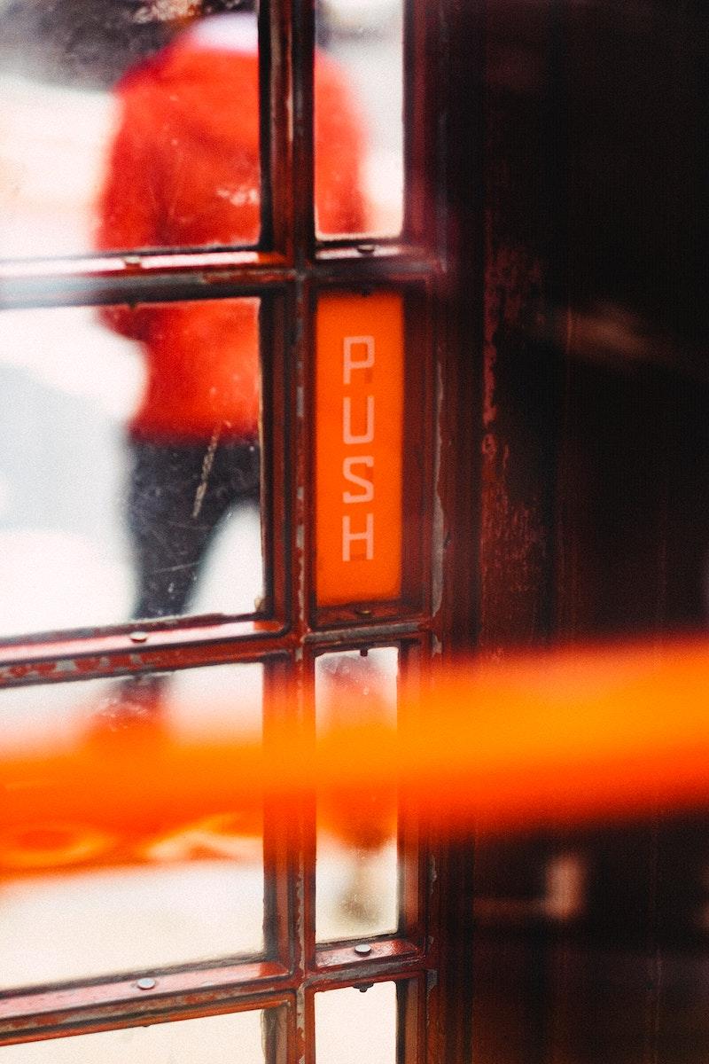 Push the door