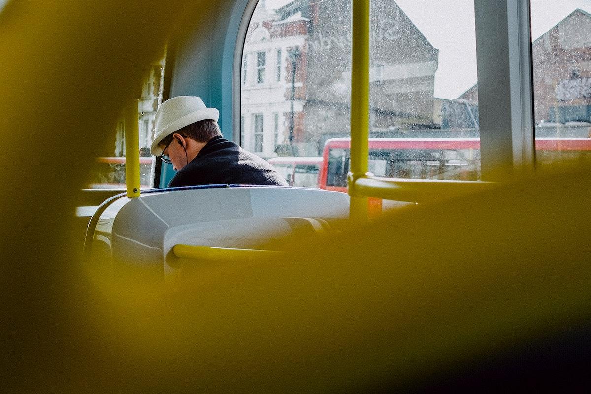 Bus ride through London, United Kingdom
