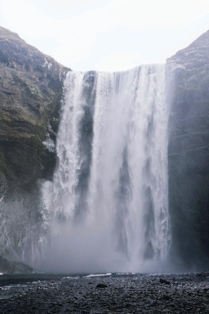 Skogafoss waterfall on the Skoga River, Iceland