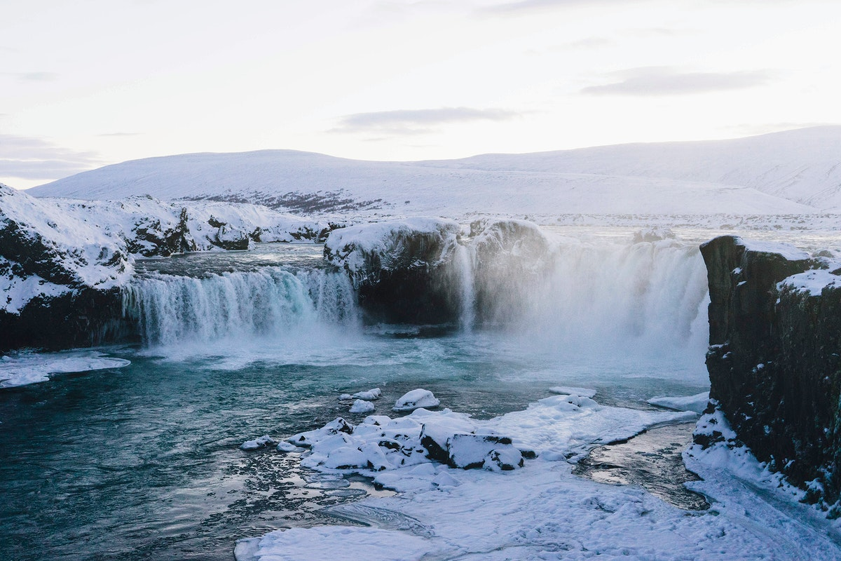 Godafoss waterfall, north Iceland