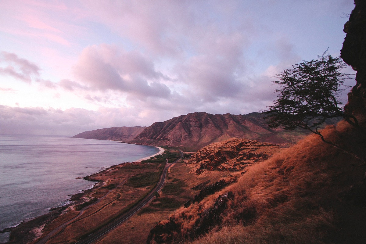Scenic view of the coastlines in Oahu, Hawaii