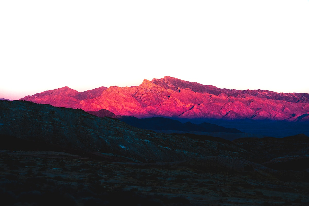 View of the mountain peaks in Las Vegas, Nevada, United States