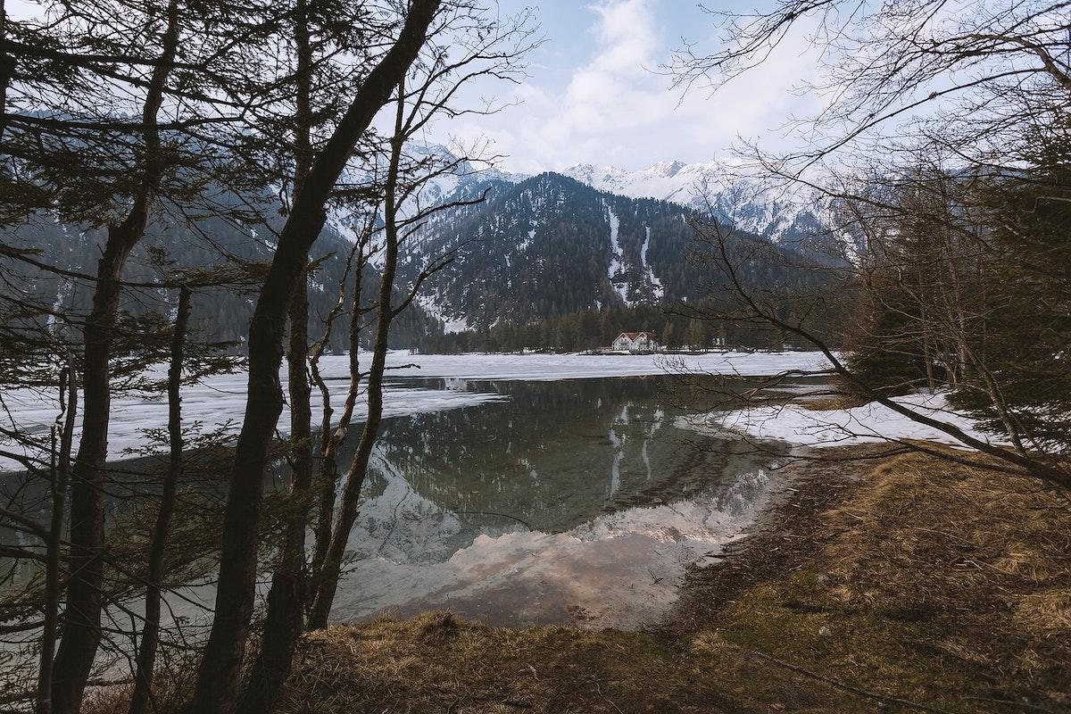 Lake Antholz in spring