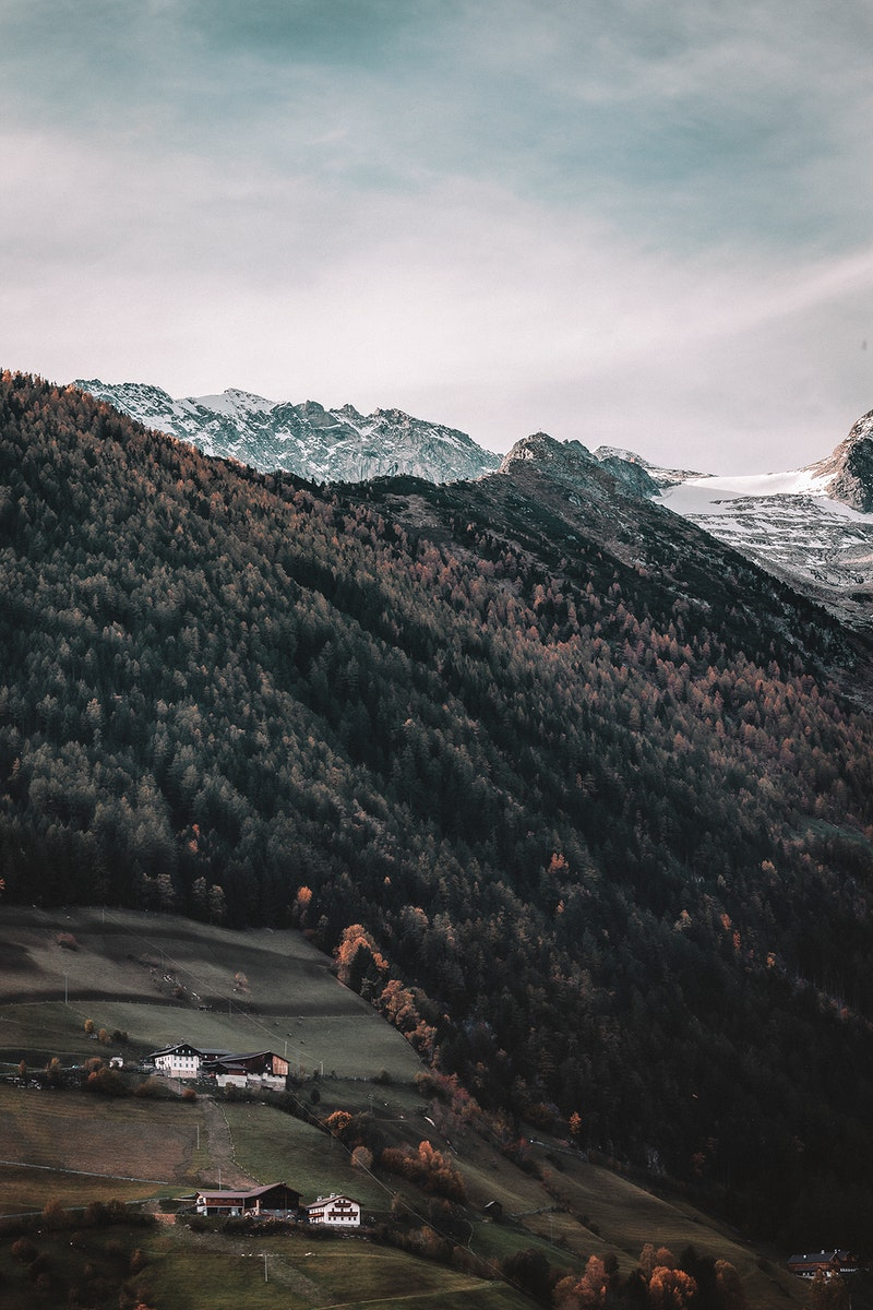 South Tyrol transitioning from fall to winter