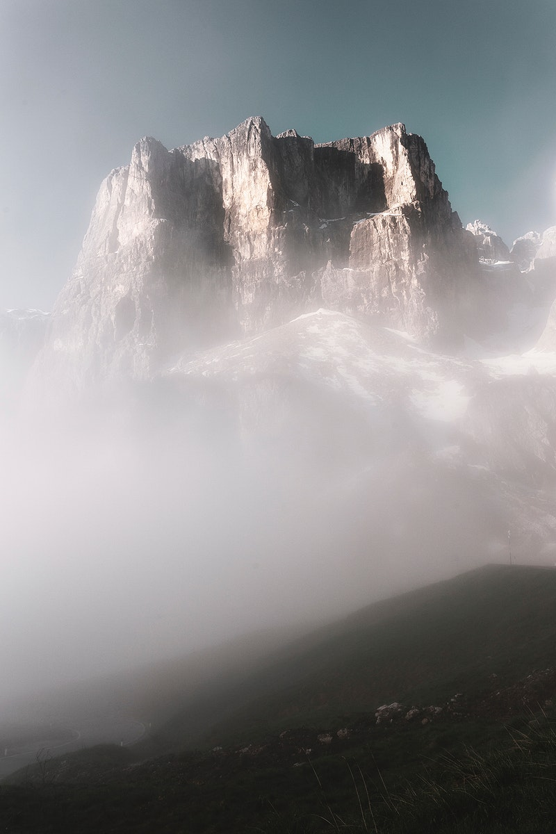 View of mountain after sunrise