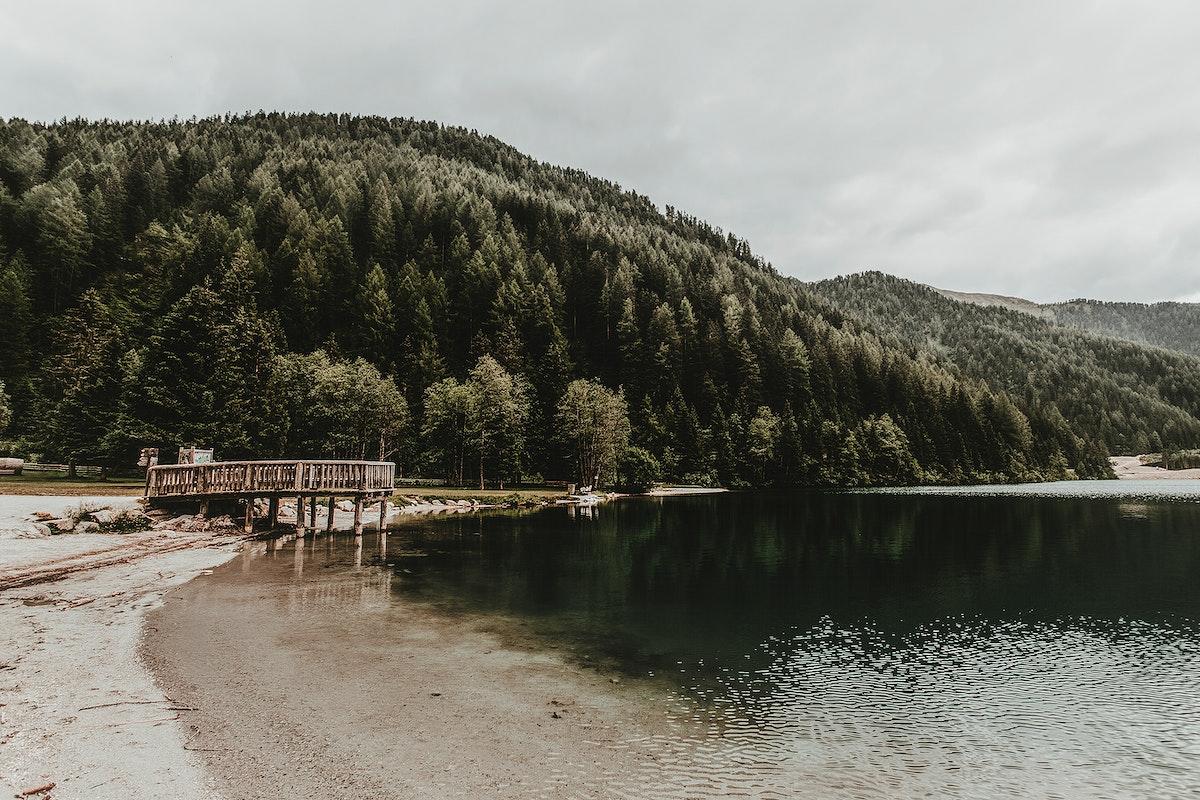 Landscape of Lake Anthoiz, Italy
