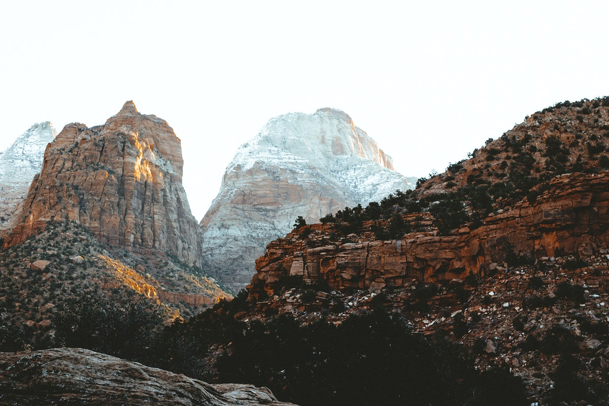 View of Zion National Park in Utah, USA