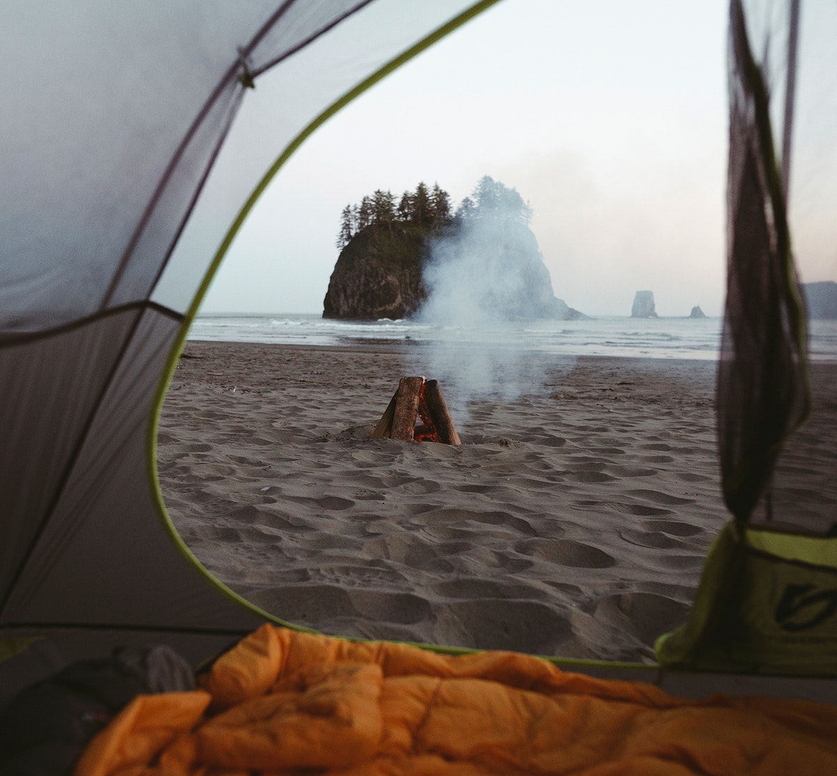 Camping at the Washington Coast, USA