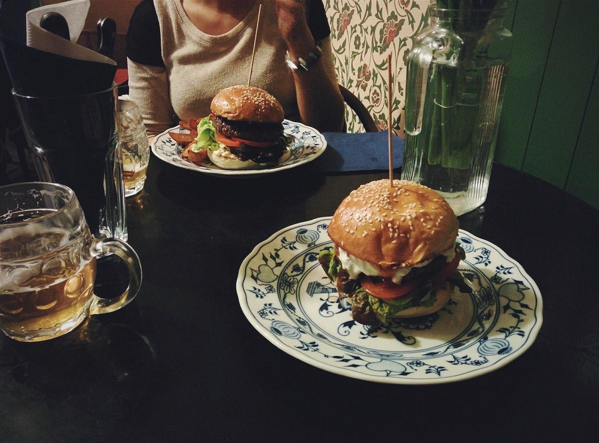 A burger dinner