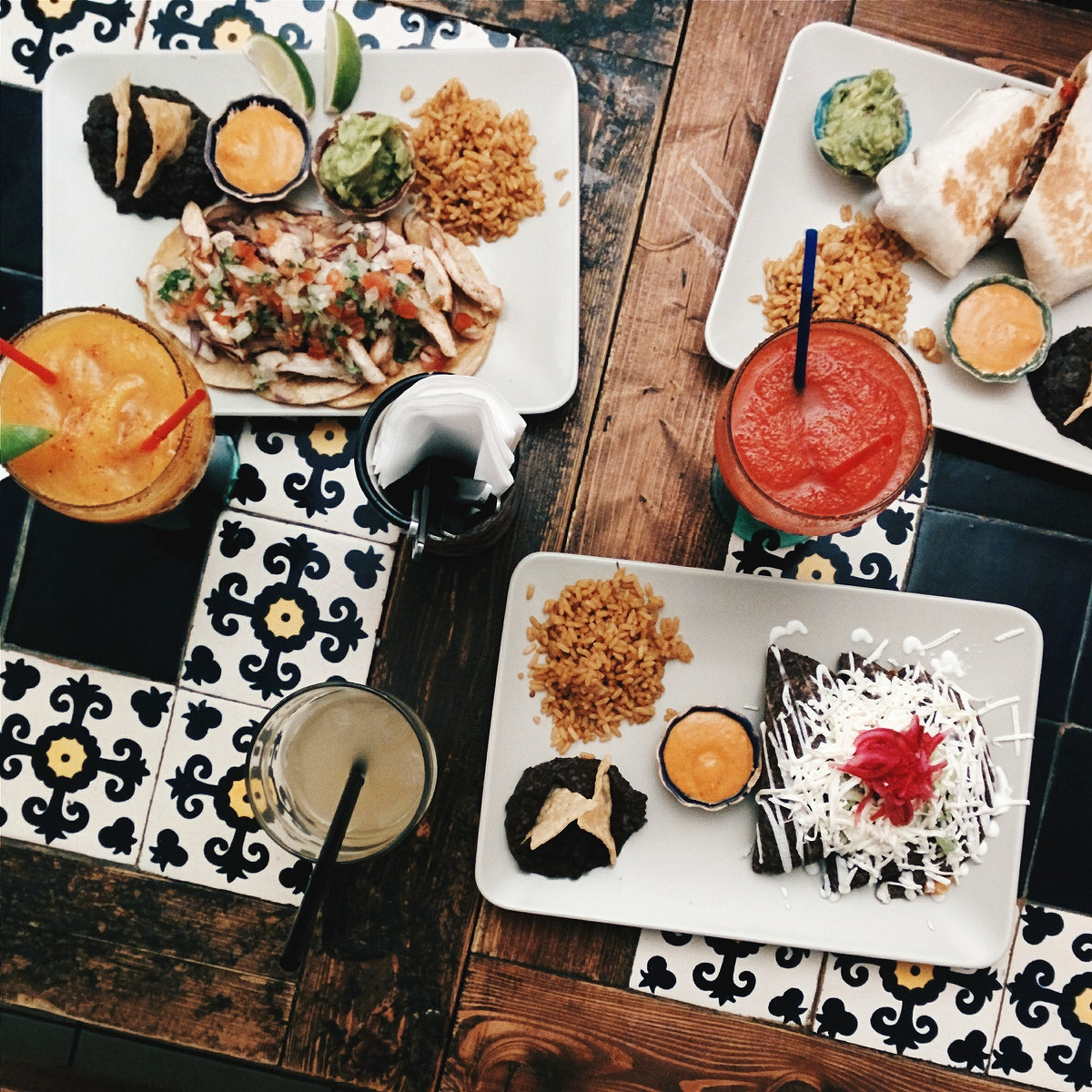 Delicious food in a Mexican restaurant